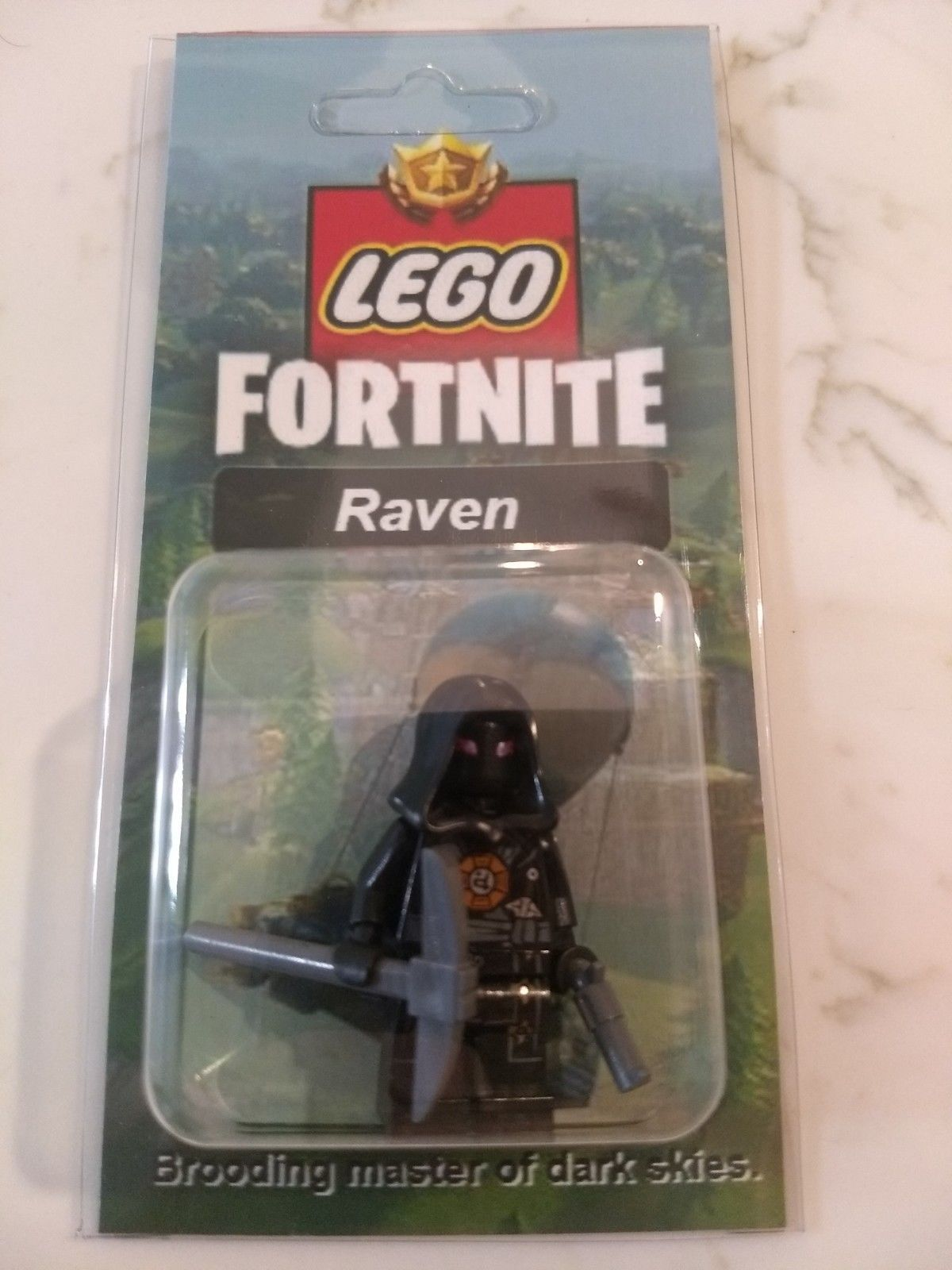 New Lego Custom Raven Minifig Fortnite Battle Royale Skins Pickaxe