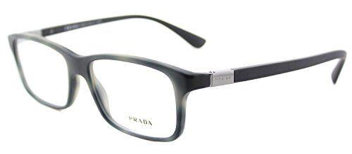 fff4ddd1c5ac Prada PR06SV Eyeglass Frames USD1O1-56 Matte Striped Grey PR06SV-USD1O1-56