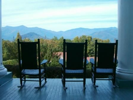Rocking Chairs View From Lee Hall Blue Ridge Embly Black Mountain Nc