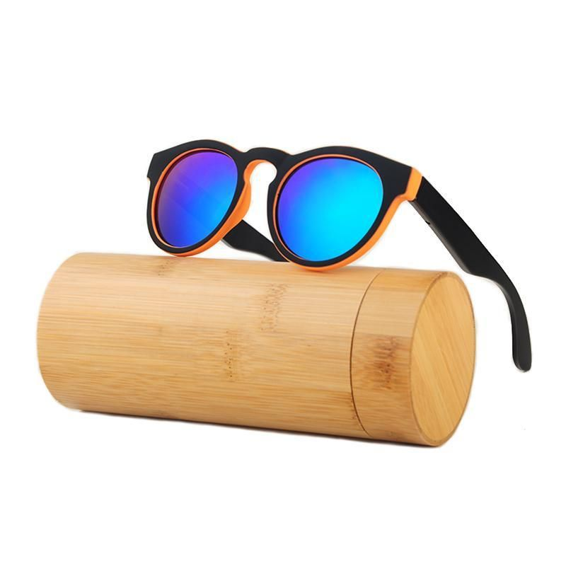 f9bd71f2086 HINDFIELD New Round Bamboo Sunglasses Men Wooden Sunglasses Women Brand  Designer Polarized Mirror Coating Eyewear gafas de sol