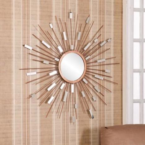 Upton Home Mid Century Modern Sunburst Mirrored Wall Sculpture Decorate Entryways Kitchens And