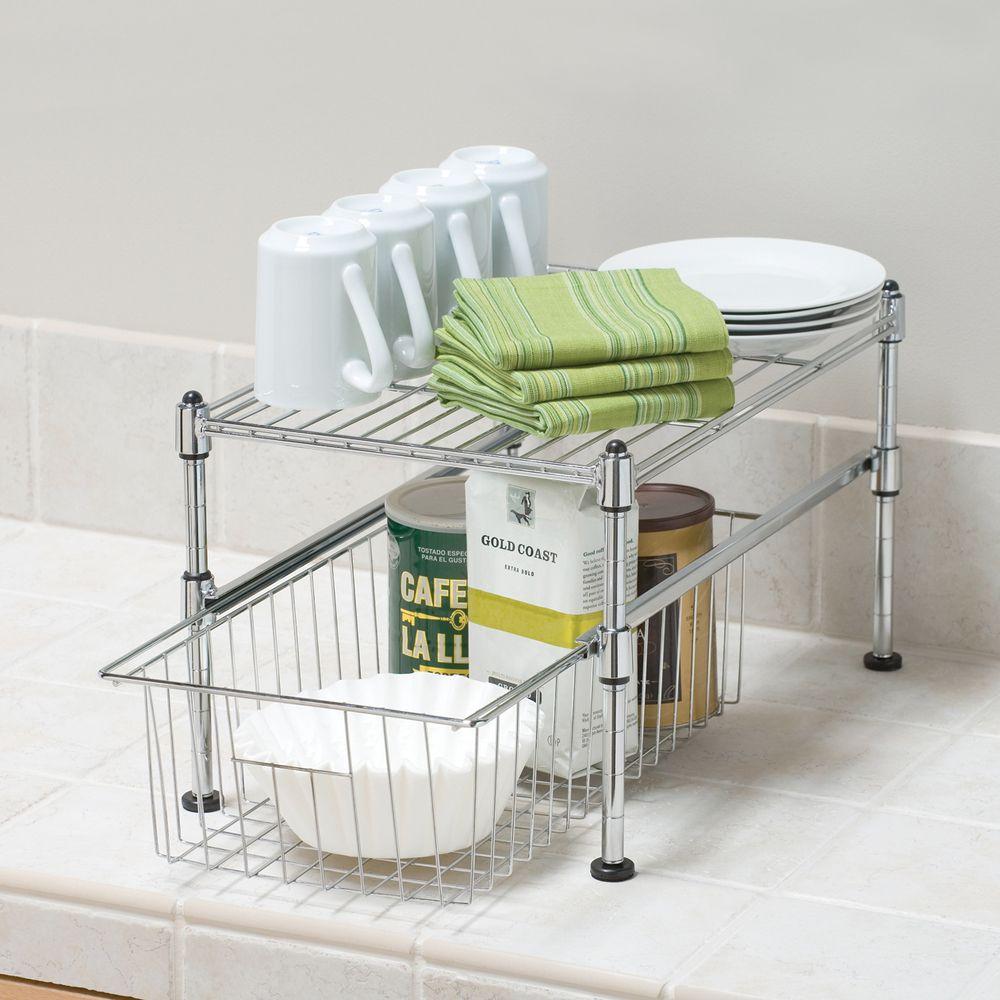 Seville Classics UltraZinc Mini Basket/Shelf Organizer - 11.5x17 ...