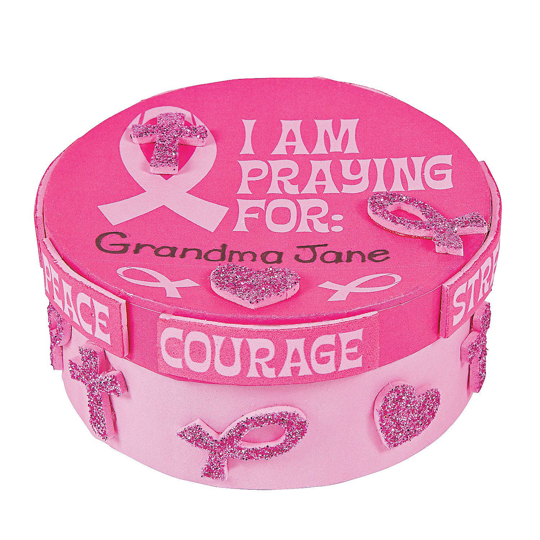 Pink+Ribbon+Prayer+Box+Craft+Kit+-+OrientalTrading.com