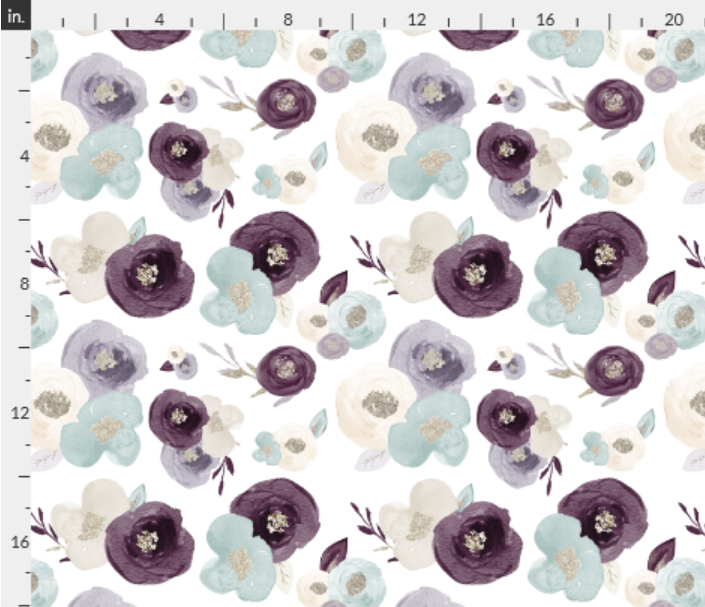 Screenshot Purple, Teal, & Silver Watercolour Floral