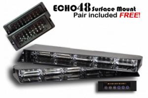 Extreme Tactical Dynamics Product Spotlight Led Stealth 4 Visor Light Bar Bar Lighting Strobe Lights Ems Light