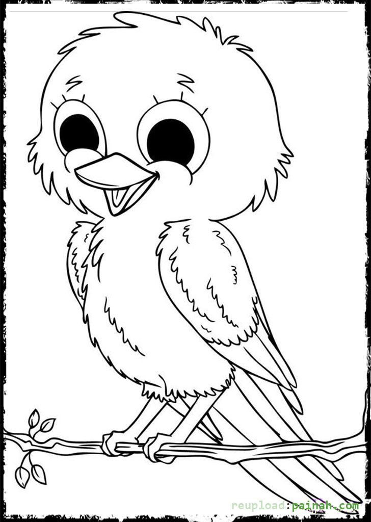 Bird Coloring Pages Parent And Baby