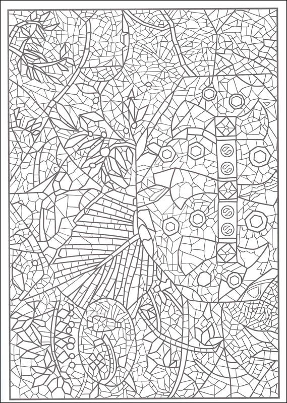 creative haven mosaic masterpieces coloring book additional photo inside page - Mosaic Coloring Book