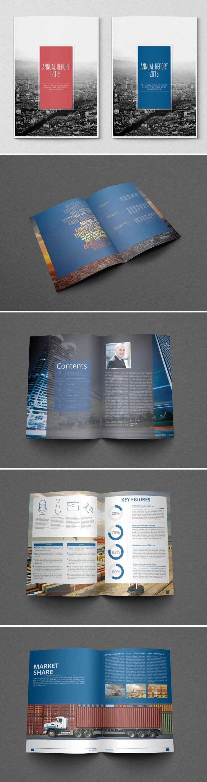 a showcase of annual report brochure designs to check out