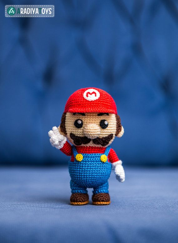 "#Amigurumi passo a passo Crochet Pattern of Mario from ""Super Mario Bros."" (Amig…"