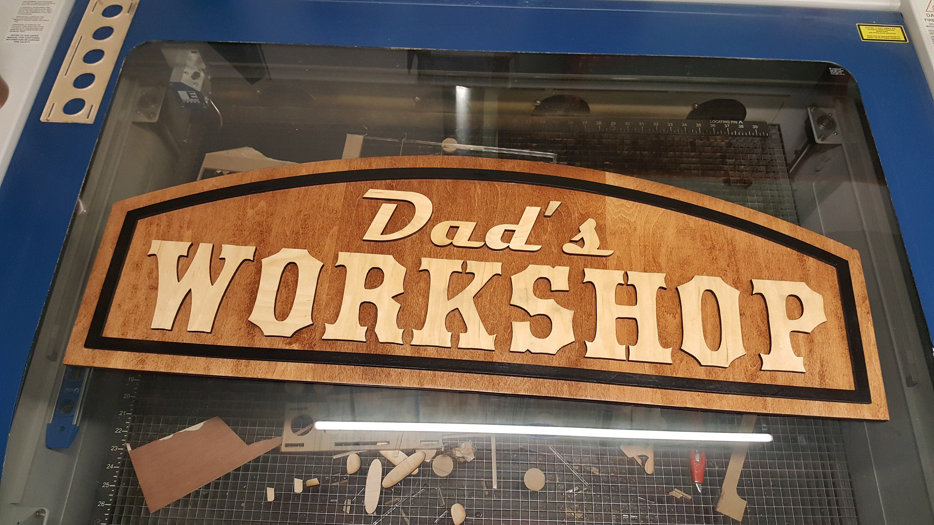 Pop/'s Shop Handyman/'s Tools Metal Door or Wall Hanger for Shop; Perfect for Dads or Grandfathers