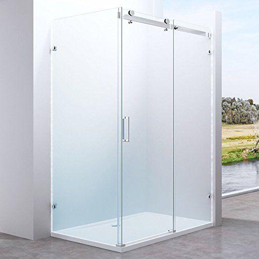 245 No Side Panel Frameless Shower Enclosure Sliding Door Glass Side