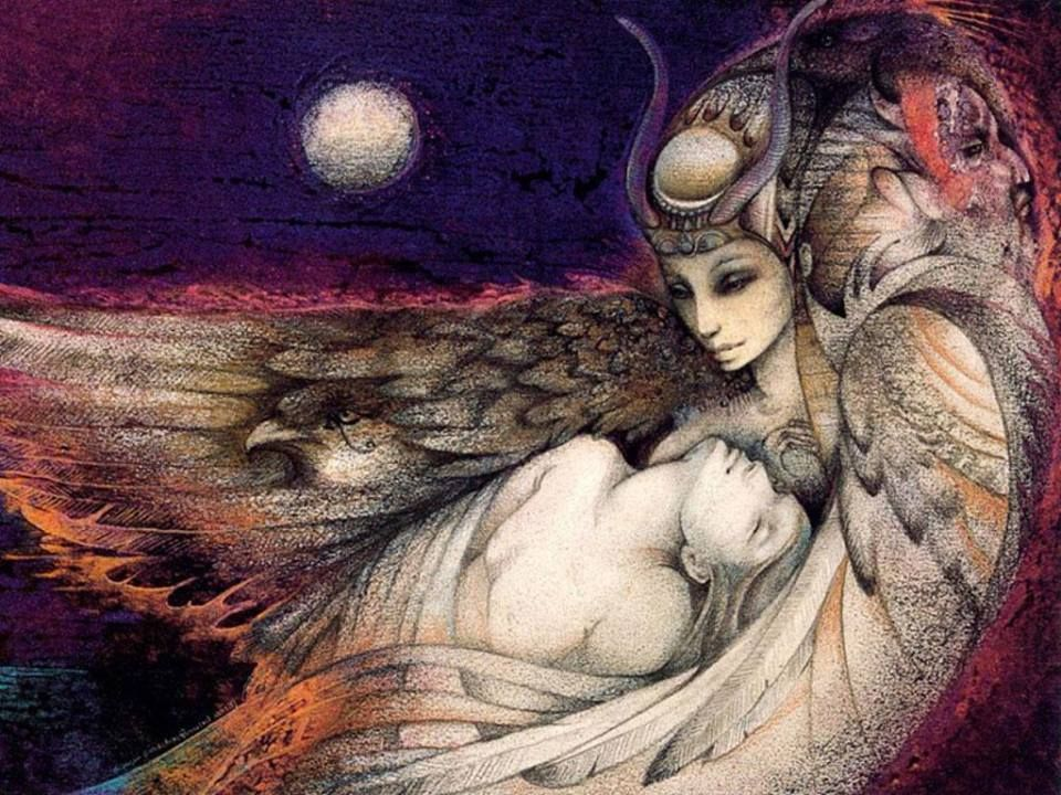Isis and Osiris - Susan Seddon Boulet | ⧏∙⧕⧚⦙Art
