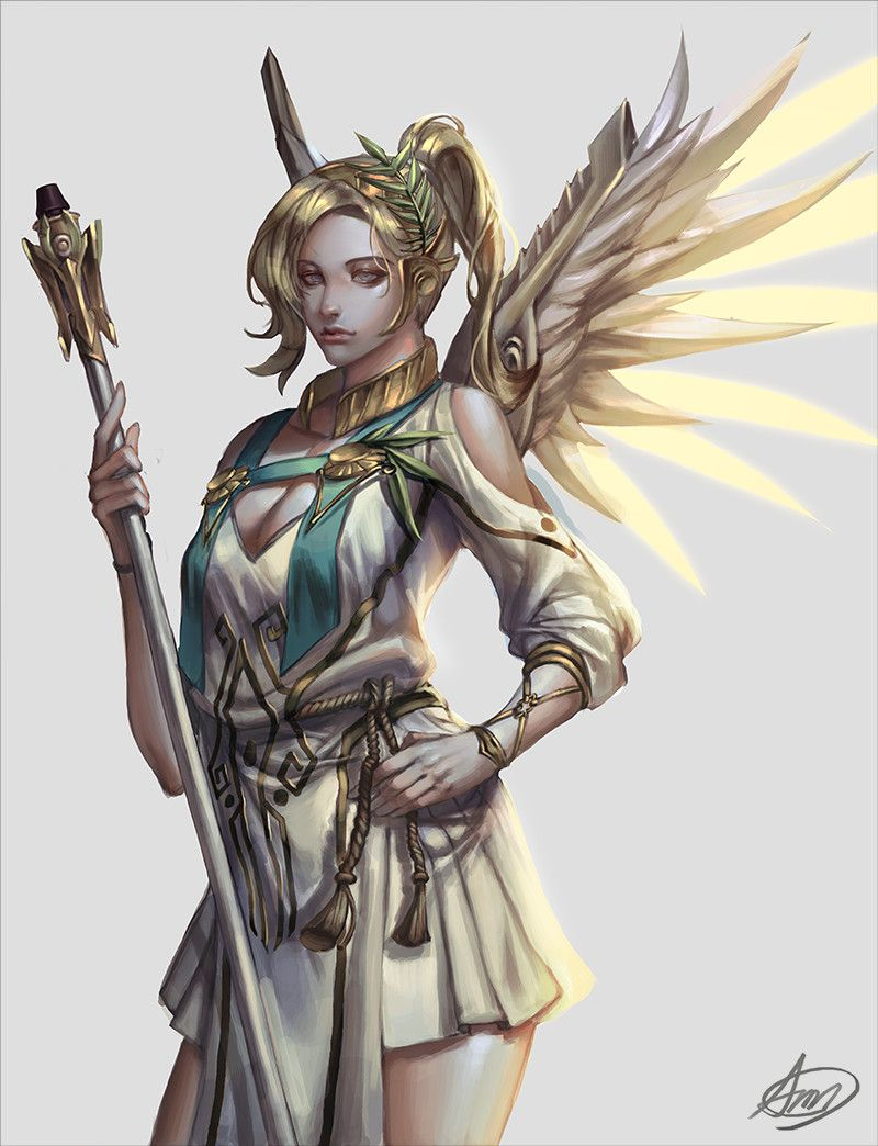 Mercy as Nike, the goddess of victory