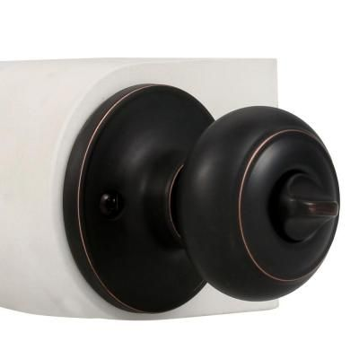 Defiant Hartford Aged Bronze Privacy Bed/Bath Door Knob   Door knobs ...