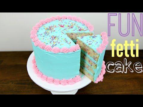 Funfetti Birthday Cake Decorating - CAKE STYLE - YouTube ...