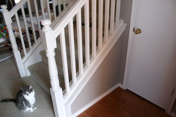 Best Beautiful Budget Stair Remodel From Carpet To Wood Treads 400 x 300