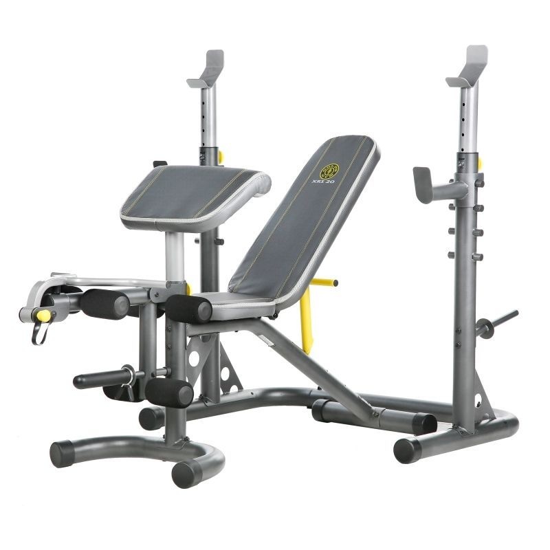 Gold S Gym Xrs 20 Olympic Weight Bench At Home Gym Golds Gym No Equipment Workout