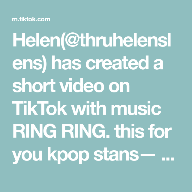 Helen Thruhelenslens Has Created A Short Video On Tiktok With Music Ring Ring This For You Kpop Stans Didn T Include De Music Rings Kfashion Korean Fashion