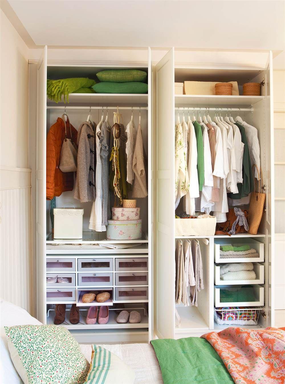 Adesivo Decorativo Para Vidro ~ Armario abierto con ropa ordenada Armarios y vestidores