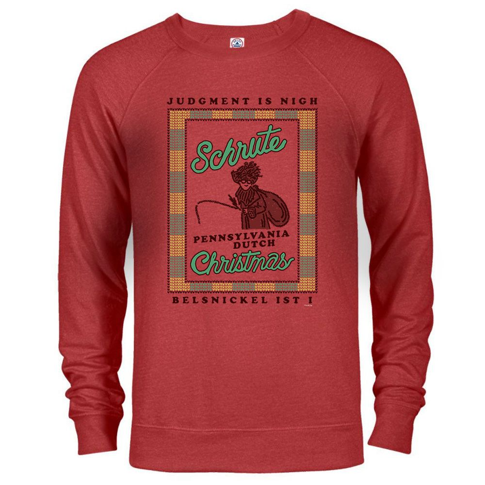 The Office Dwight Belsnickel Ugly Christmas Sweatshirt Threads I