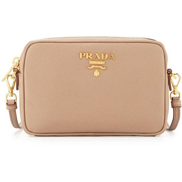 Cross Body Bags - Saffiano Lux Crossbody Bag Calf Leather Gold - gold - Cross Body Bags for ladies Prada RPjNEg6Cg