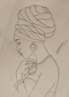 Rostro De Africana Pinturas Africanas Desenho De Mulher Negra
