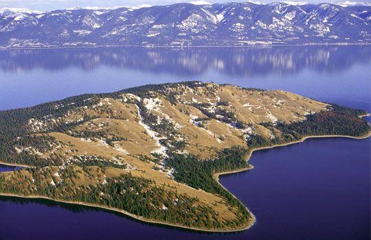 Aerial Of Wild Horse Island Flathead Lake Mont C Chuck Haney Danita Delimont Alamy Flathead Lake Flathead Lake Montana Lake