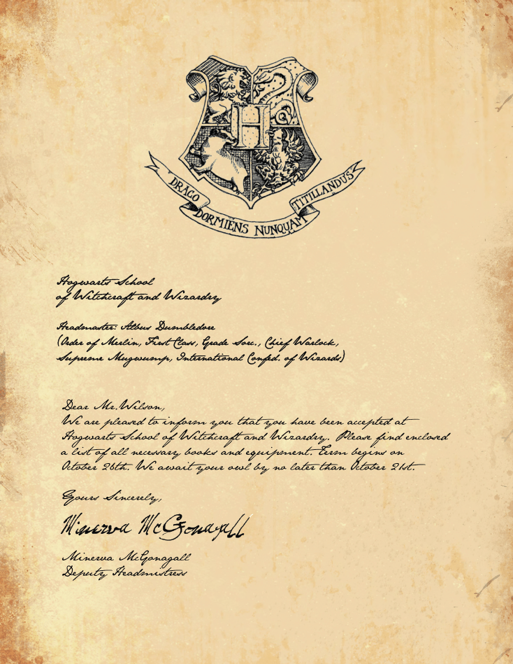 image about Printable Hogwarts Letter identified as Cost-free Printable Hogwarts Invitation Template Cost-free Ladies