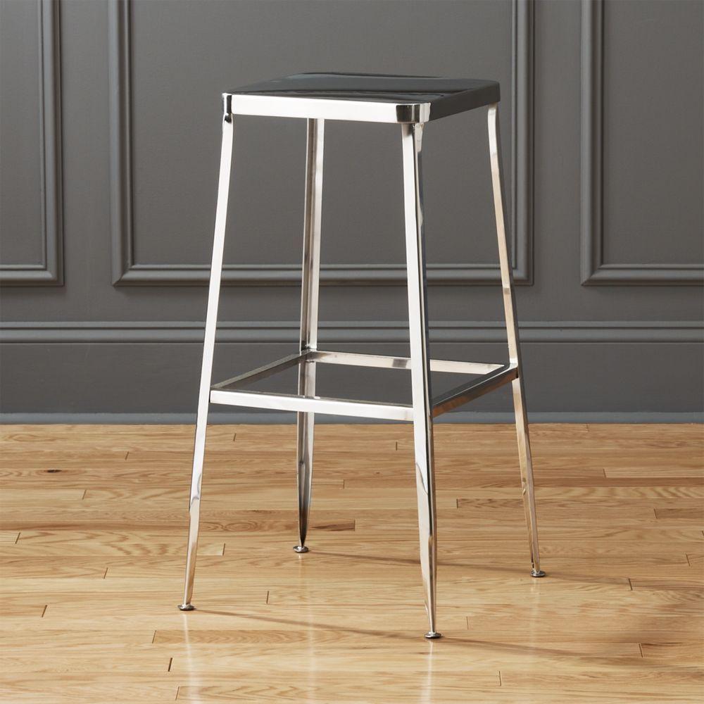 Awe Inspiring Flint Shiny Silver 30 Bar Stool Products Bar Stools Alphanode Cool Chair Designs And Ideas Alphanodeonline