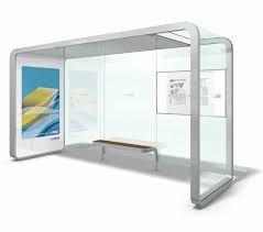 Afbeeldingsresultaat voor glass bus stop