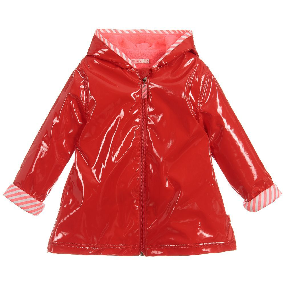 f945a6ad6 Girls Red   Pink Raincoat