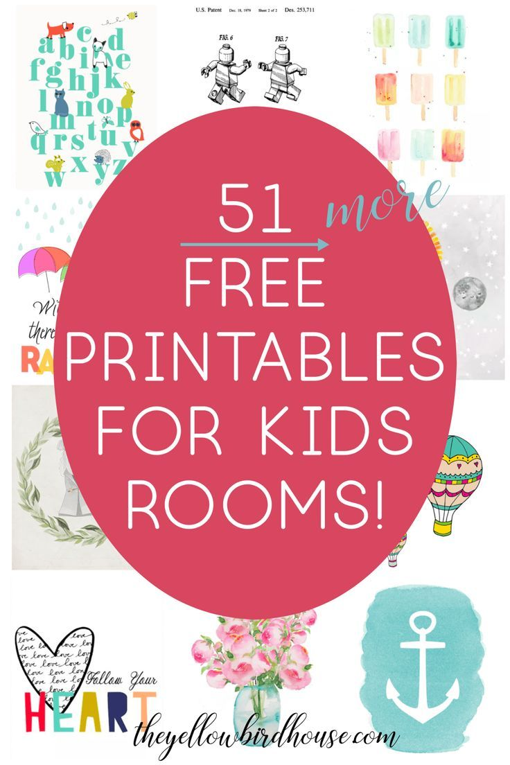51 Free Printables for Kids Rooms - Nursery Decor Series images