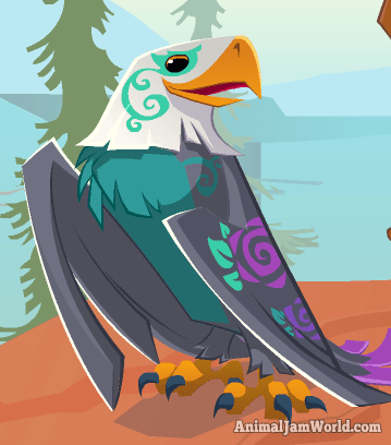 Enchanted Eagle Codes Pictures More Animaljam Animals Enchantedeagle Animal Icon Animal Jam Drawings Cute Animals