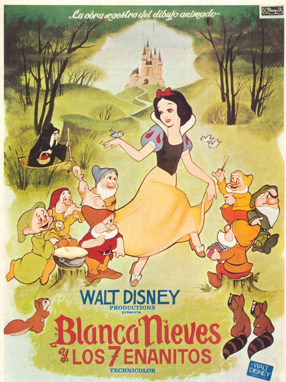 Snow White And The Seven Dwarfs Spanish 11x17 Movie Poster 1937 Etriggerz Wall Decor Accents Furniture A Disney Movie Posters Snow White Anime Movies