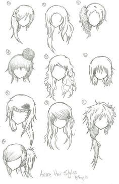 Anime Curly Hairstyles For Girls Anime Hairstyles Pinterest