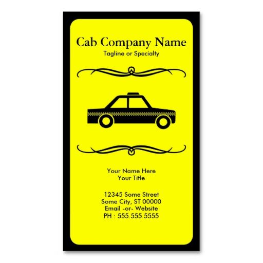 Mod Taxi Cab Business Card This Is A Fully Customizable And Available On Several Paper Types For Your Needs You Can Upload Own Image Or