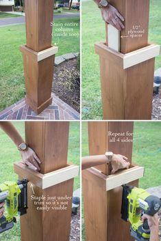 DIY Craftsman Style Porch Columns #craftsmanstylehomes