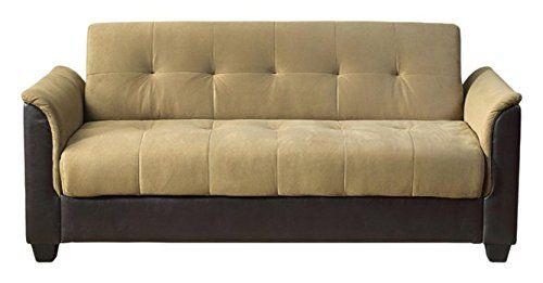 Milton Greens Stars Seattle Tufted Storage Futon Sofa Bed With