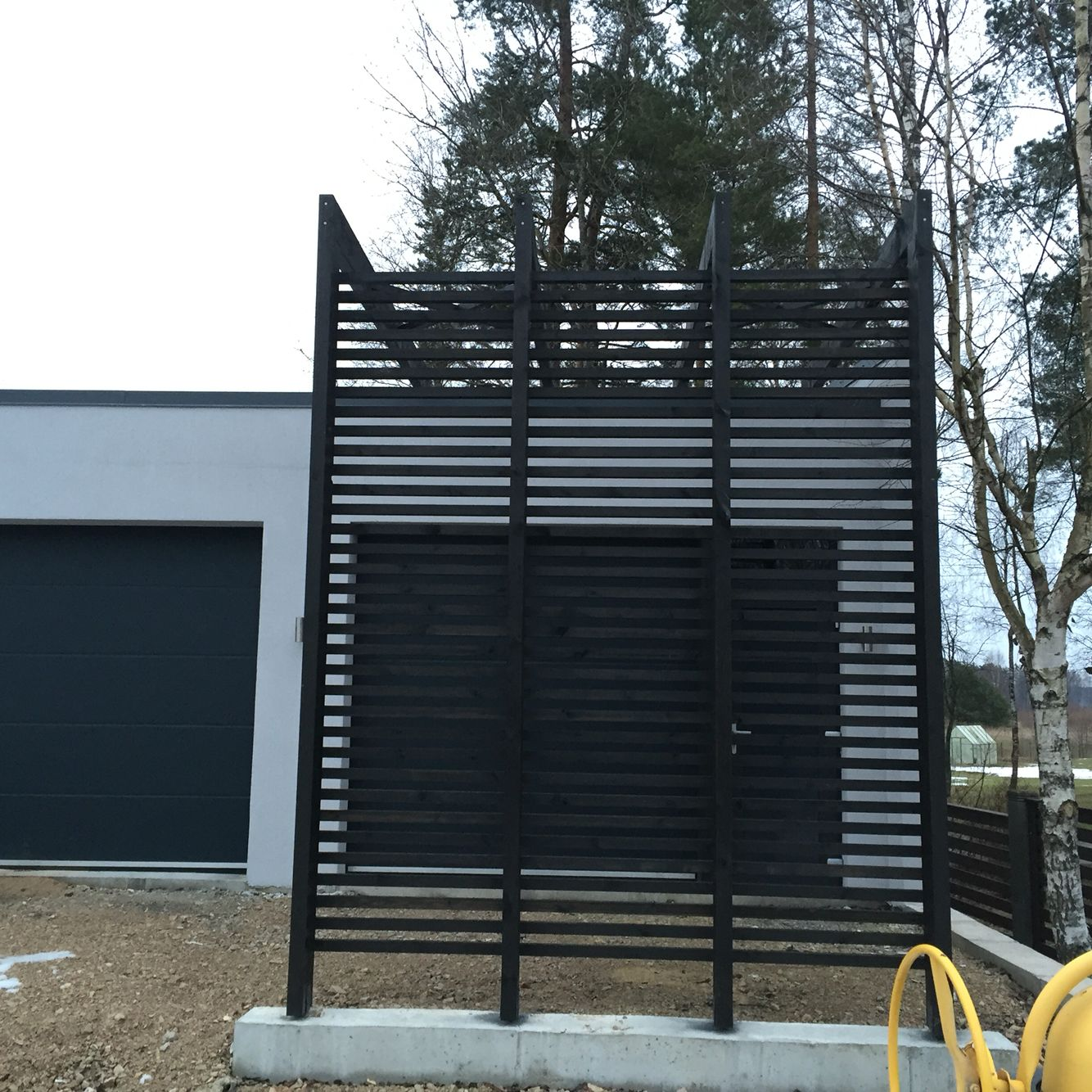 Garage pergola | Pergola curtains, Pergola plans design ...