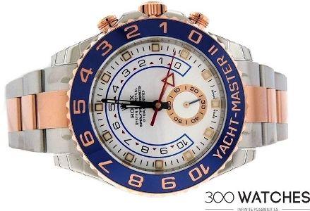 Men's Rolex 116681 Yacht Master II Steel & 18k Rose Gold Watch