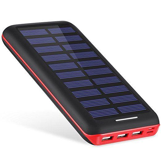 batterie externe 22000mah akeem chargeur solaire 3 ports usb power bank batterie de secours. Black Bedroom Furniture Sets. Home Design Ideas