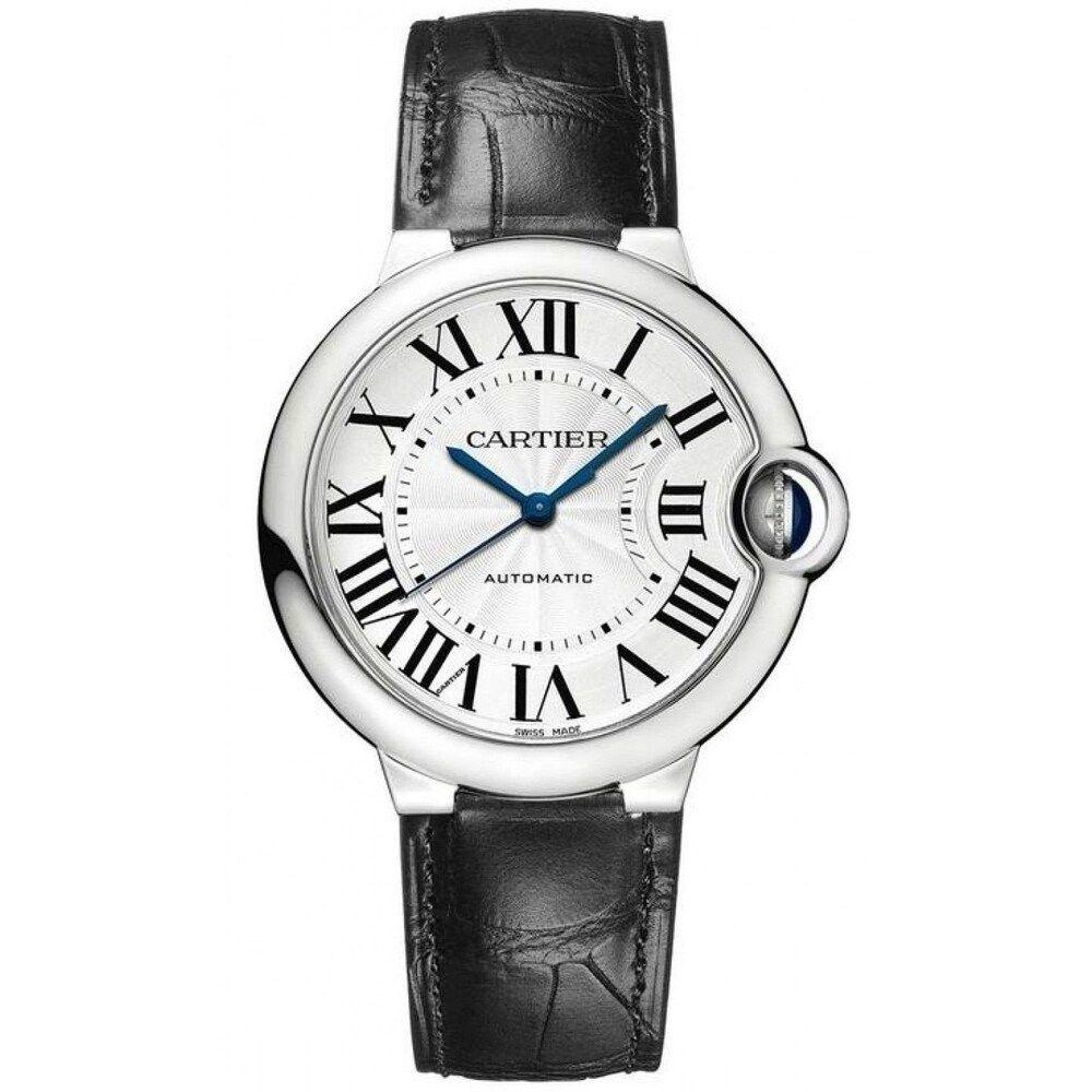 Cartier Men S Ballon Bleu Chronograph Black Leather Watch