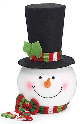 snowman head christmas tree topper | Christmas ideas | Pinterest ...