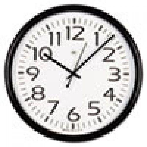 Wall Clocks: Round Wall Clock, Black, 12\