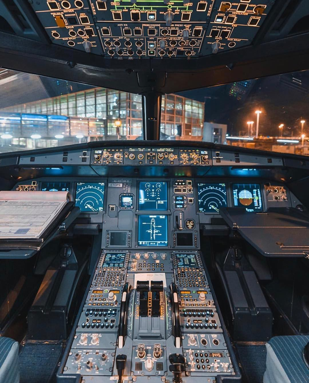 Image May Contain People Sitting Airplane Pilot Cockpit