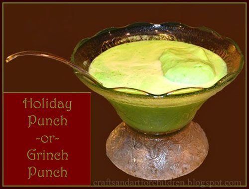 How to Make an Easy Holiday Punch or Grinch Punch #grinchpunchrecipe