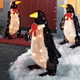 lighted animated penguin decoration outdoor holiday decoration solutions
