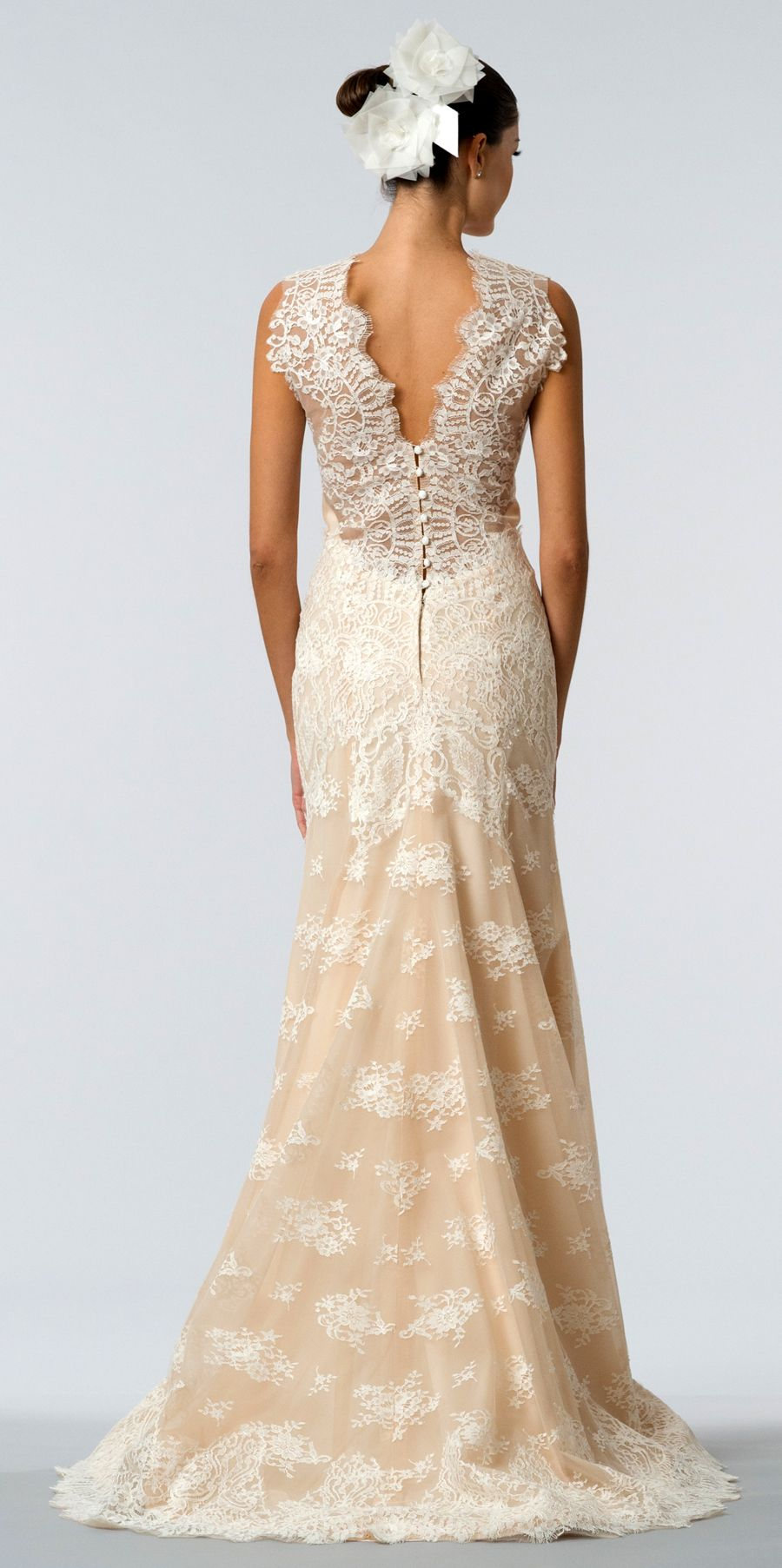 2016 Blush Wedding Dress Lace Gown Carolina Herrera Daisy