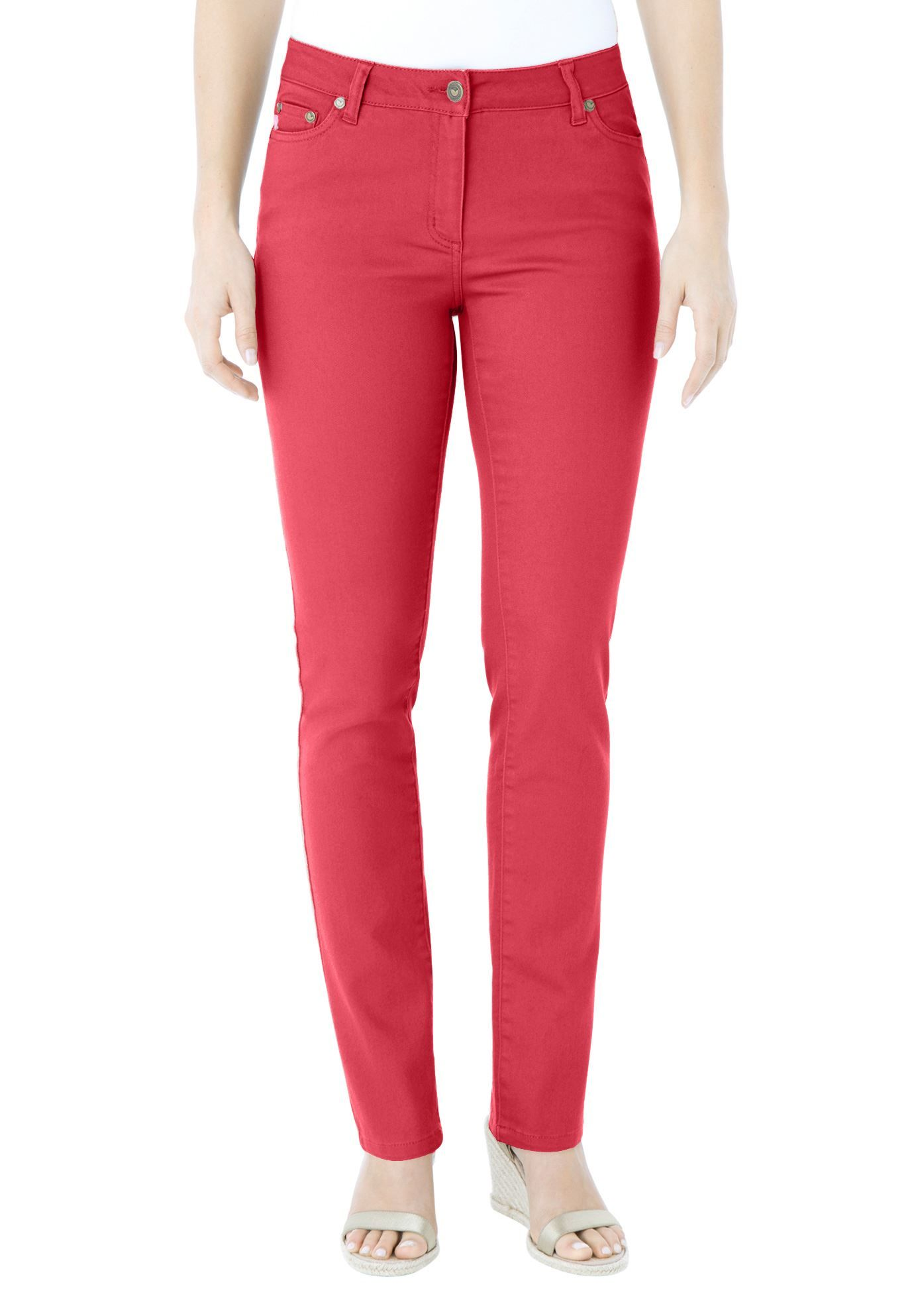 Tall plus size colored skinny jeans