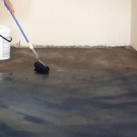 Here's how to give a bare concrete floor a facelift without breaking